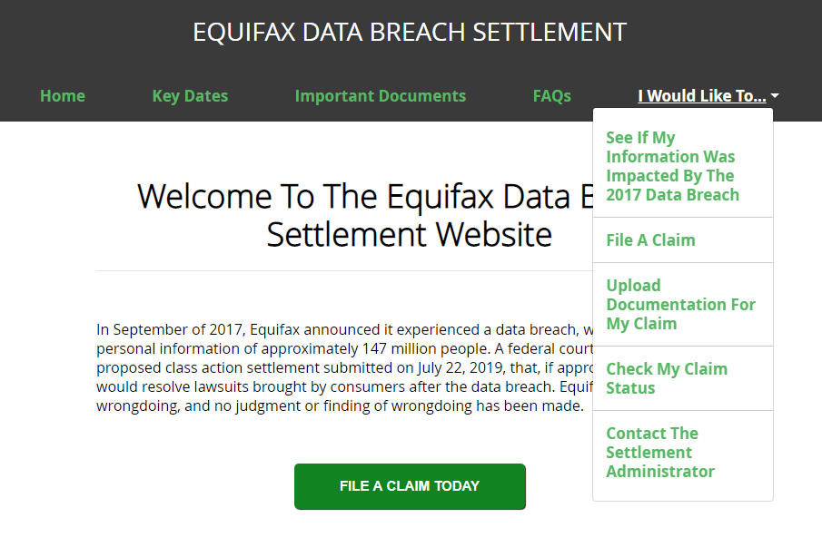 equifax claim form online  How to File an Equifax Claim for Data Breach Settlement