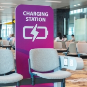 Airport charging station