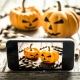 jackolanterns being captured on phone screen