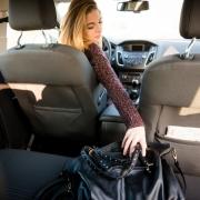 Purse in car