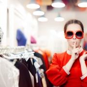 secret shopper in clothing store