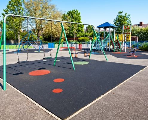 Image of playground related to school district breaches