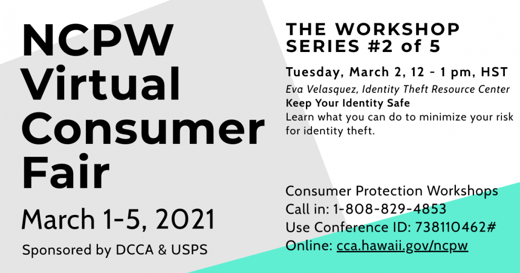National Consumer Protection Week ITRC Hawaii Presentation March 3, 2021